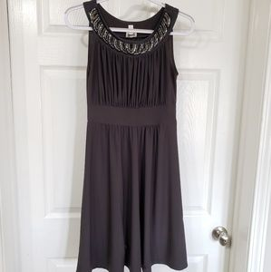 HAANI | Dark Gray Dress Beaded size s